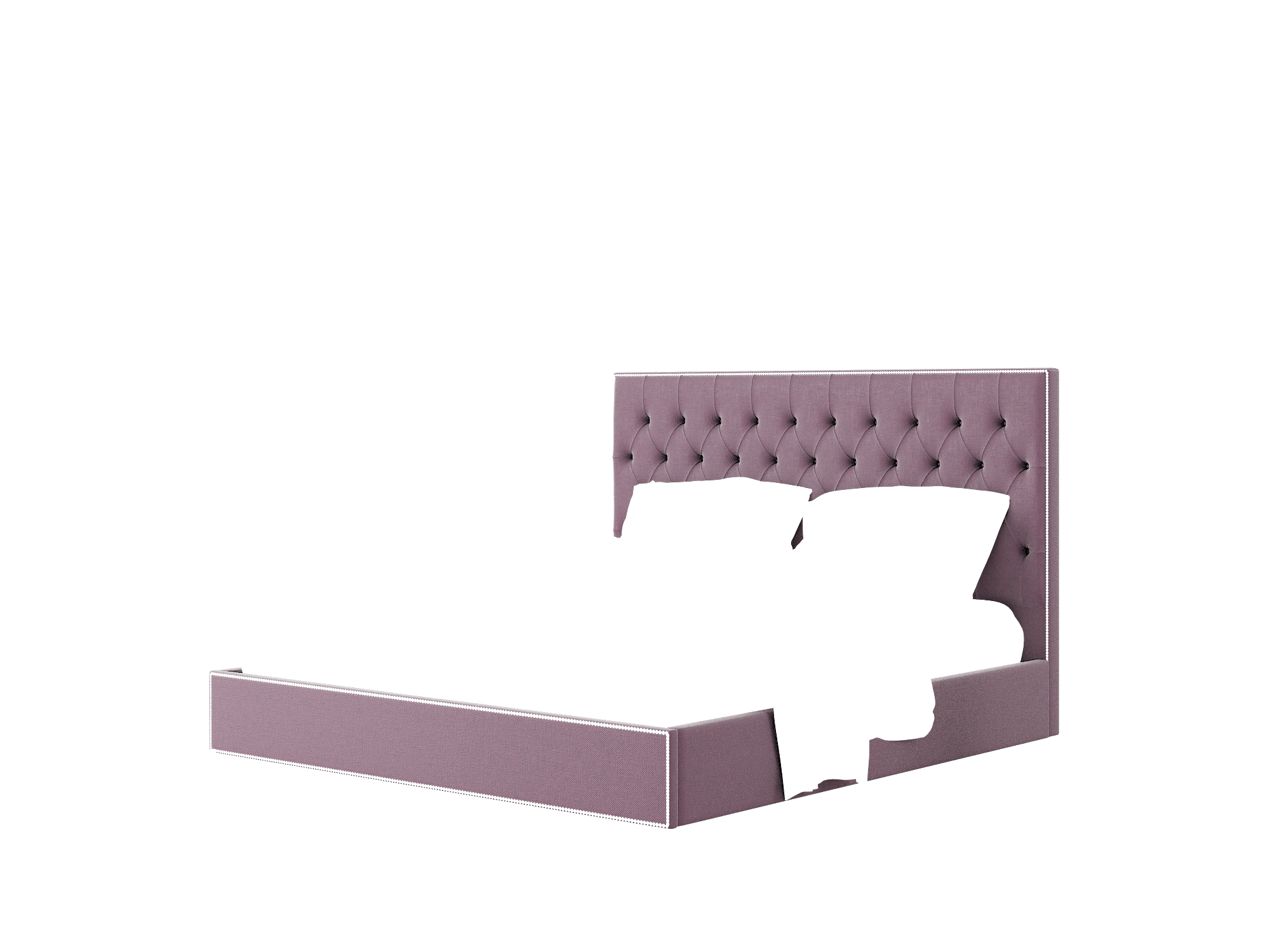 Bellezza Bella Aubergine Bed King Room Texture