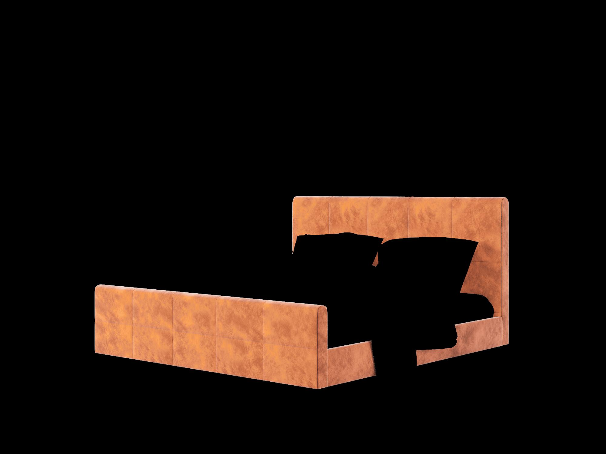 Biagio Loft Copper Bed King Room Texture