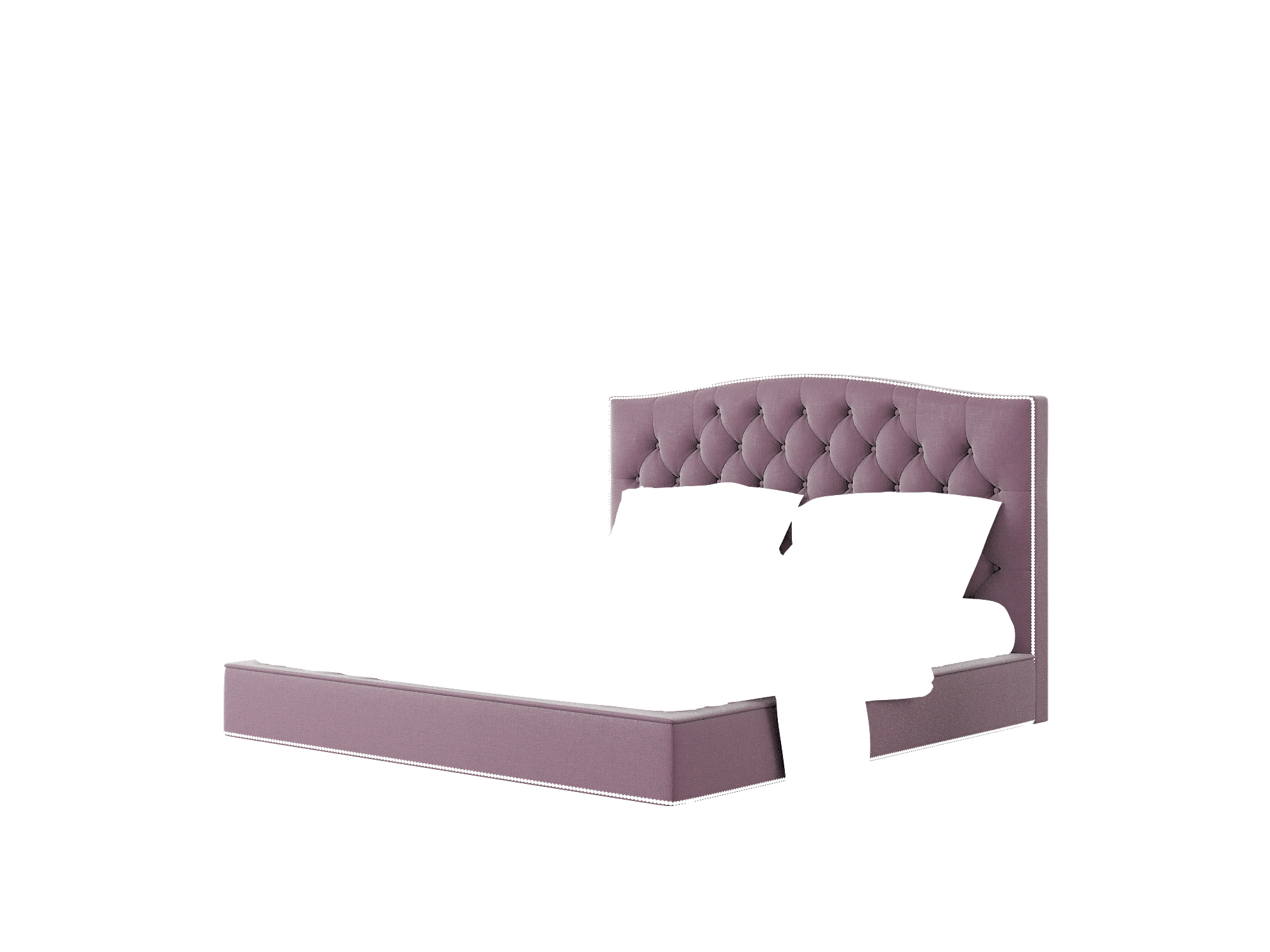 Bijou Bella Aubergine Bed King Room Texture