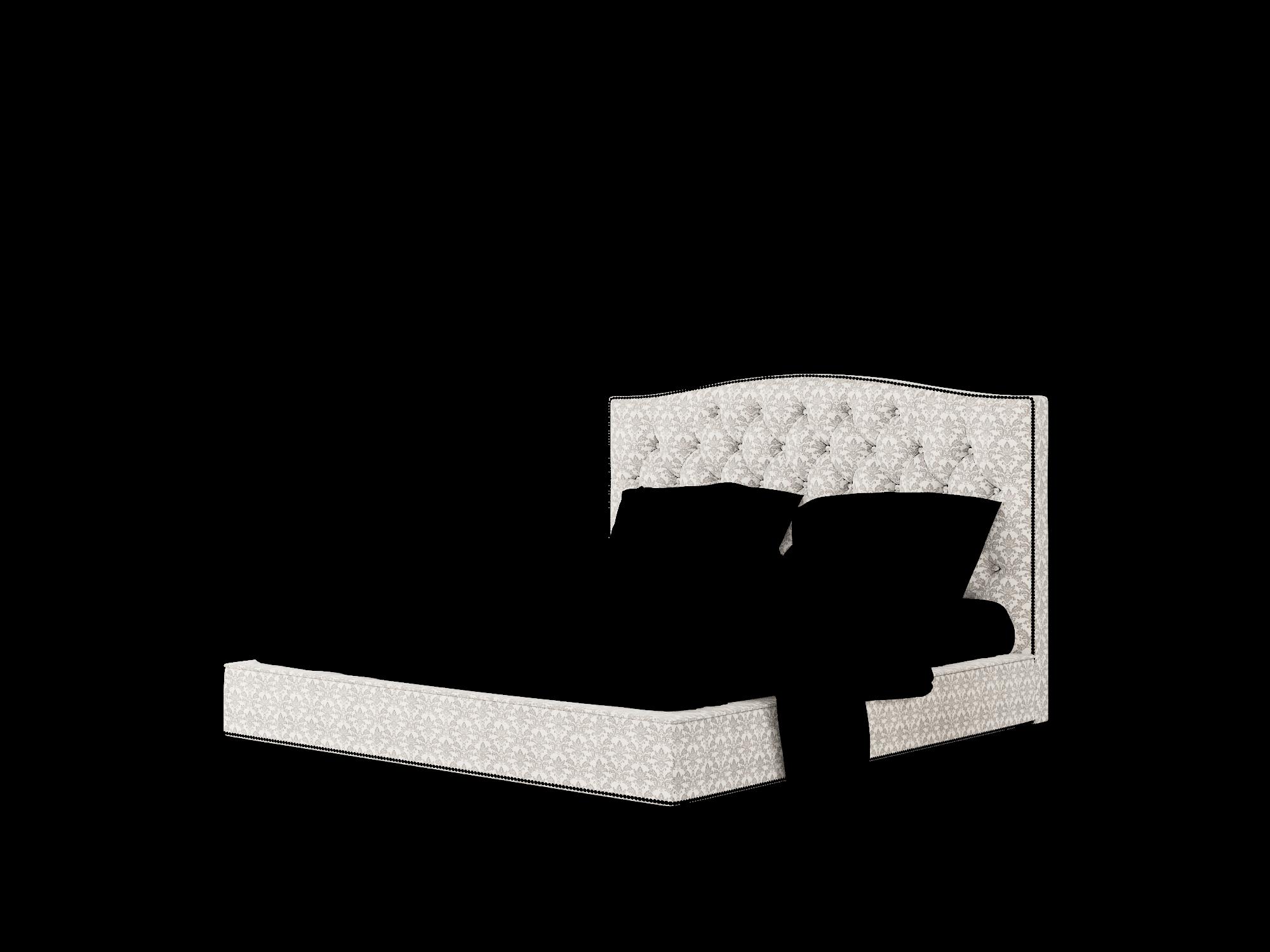 Bijou Bergamo Dove Bed King Room Texture