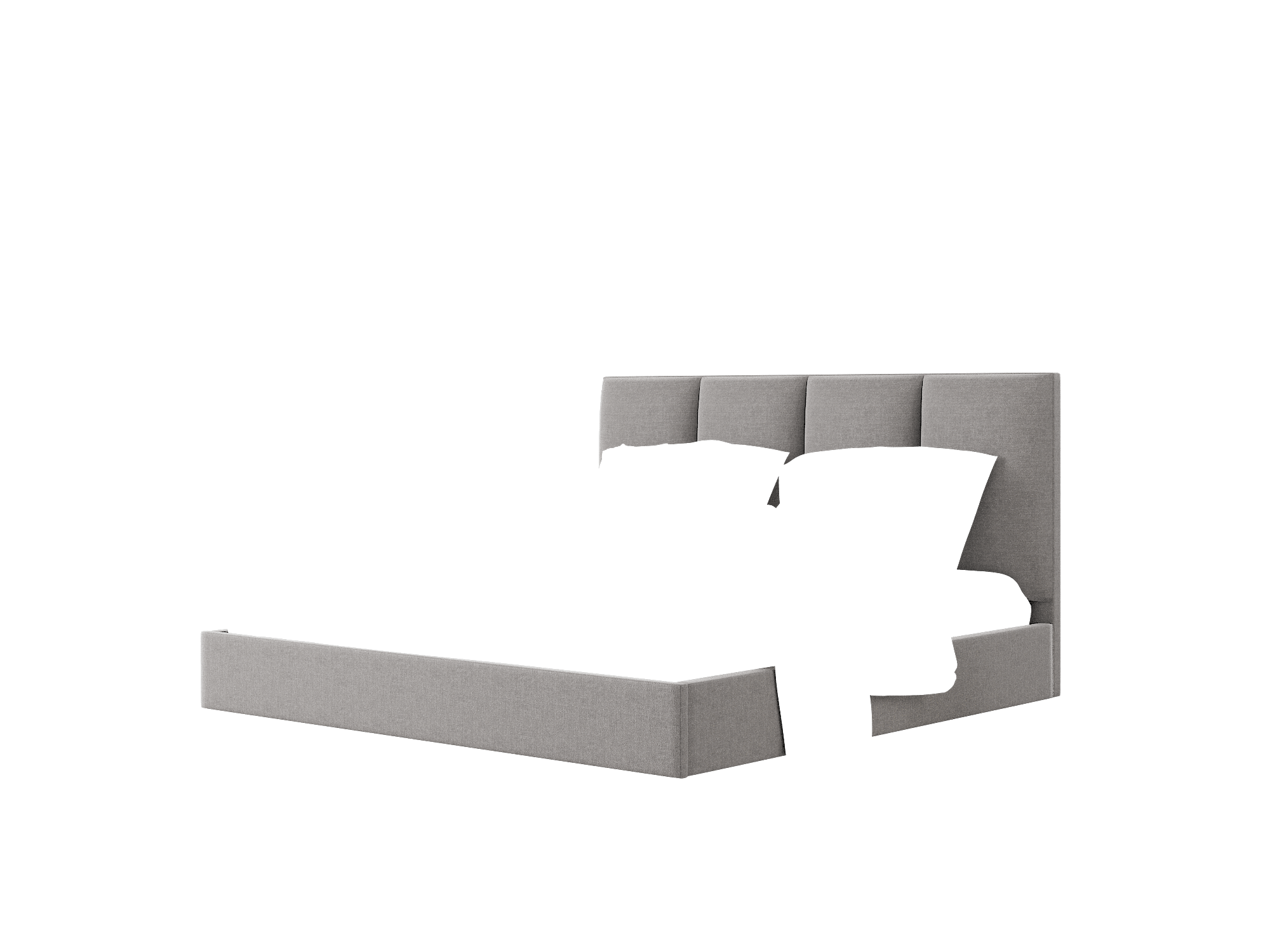 Celine Sasha Grey Bed King Room Texture