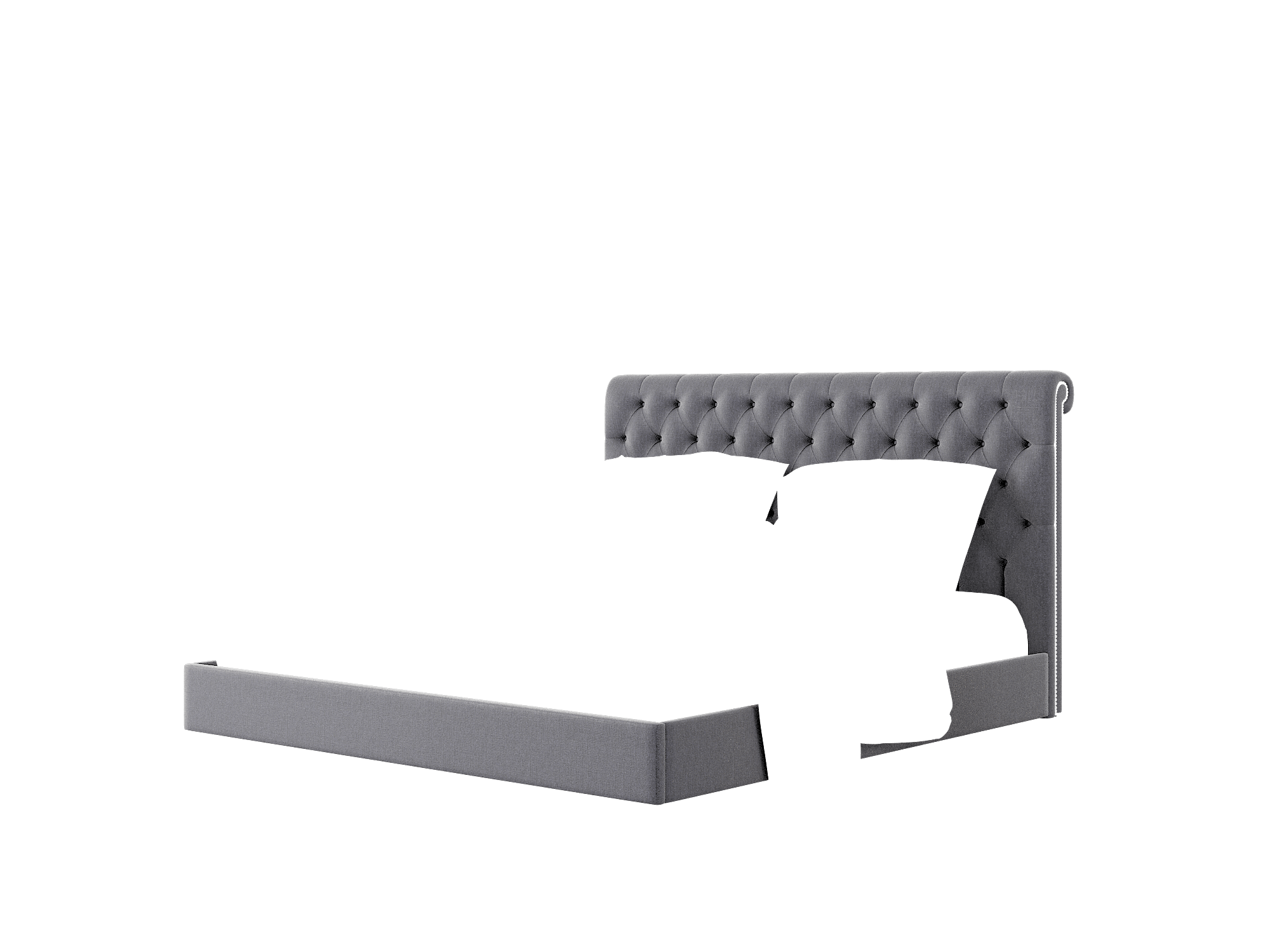 Decima Sasha Navy Bed King Room Texture