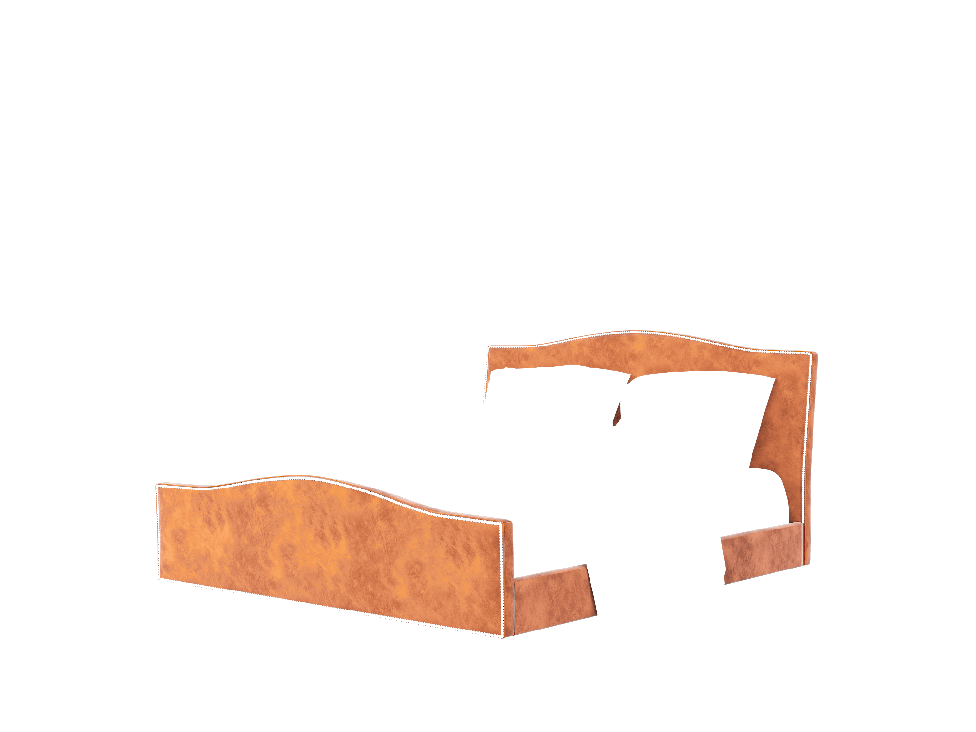 Prato Loft Copper Bed King Room Texture