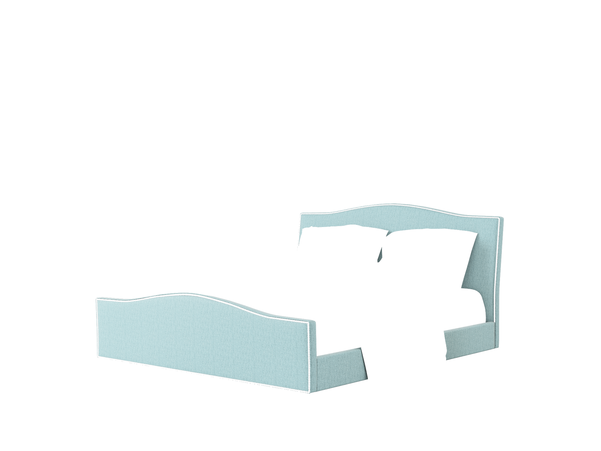 Prato Sasha Teal Bed King Room Texture