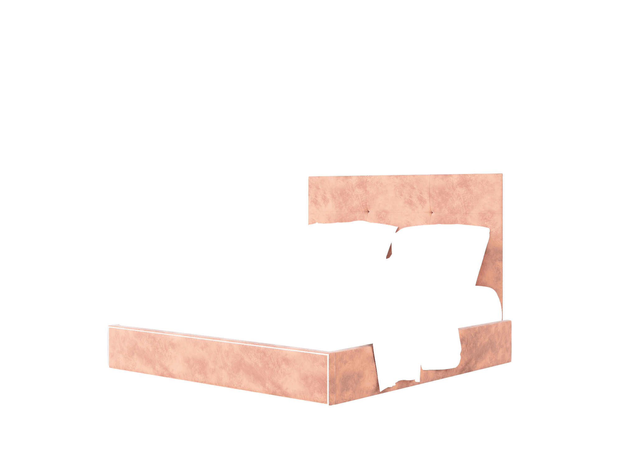 Talia Royale Blush Bed King Room Texture