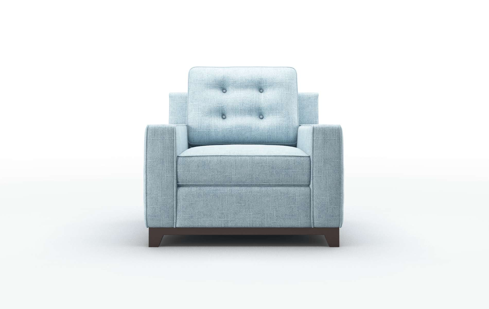 Alexandria Atlas Turquoise Chair espresso legs 1