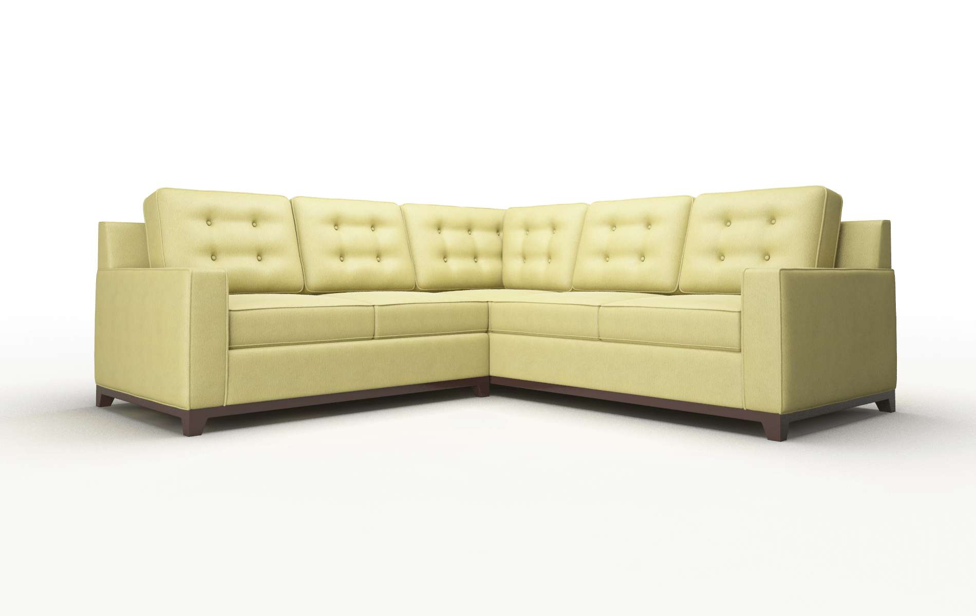 Alexandria Bella Apple Sectional espresso legs 1