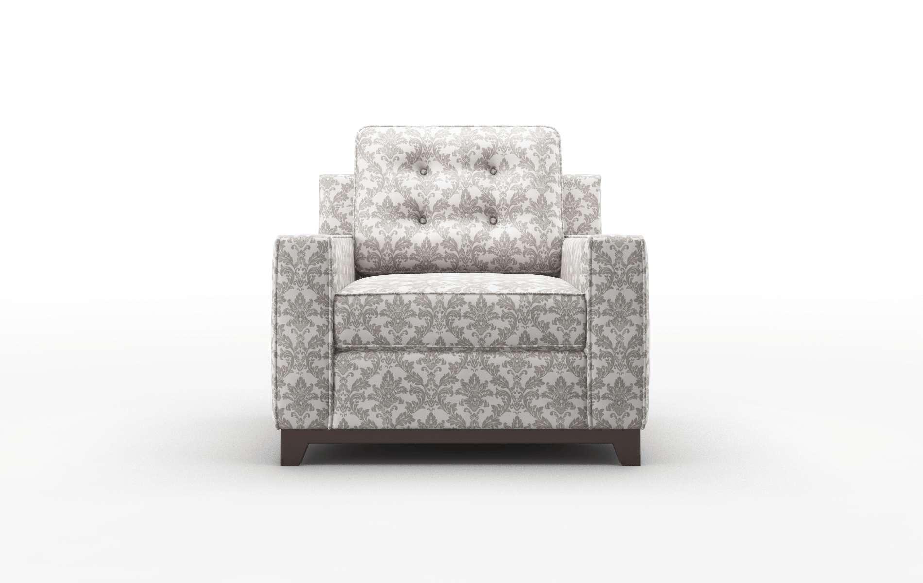Alexandria Bergamo Dove Chair espresso legs 1