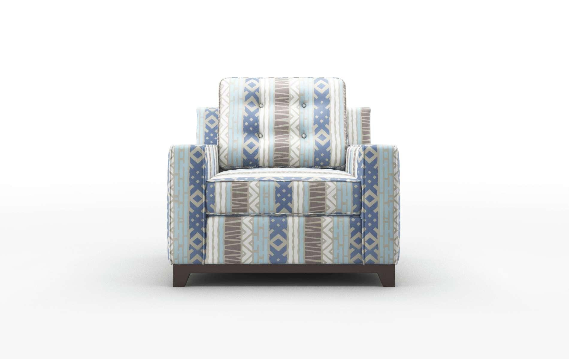 Alexandria Bodhi Indigo Chair espresso legs 1