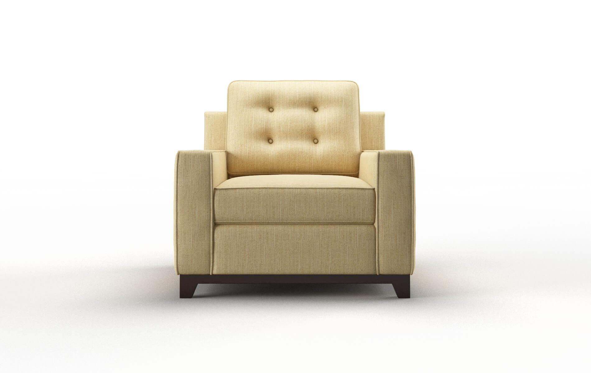 Alexandria Malibu Maize Chair espresso legs 1