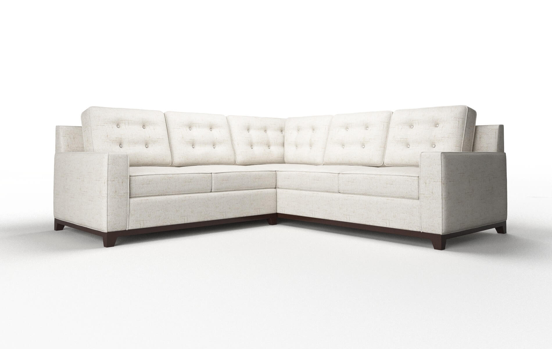 Alexandria Oceanside Natural Sectional espresso legs 1