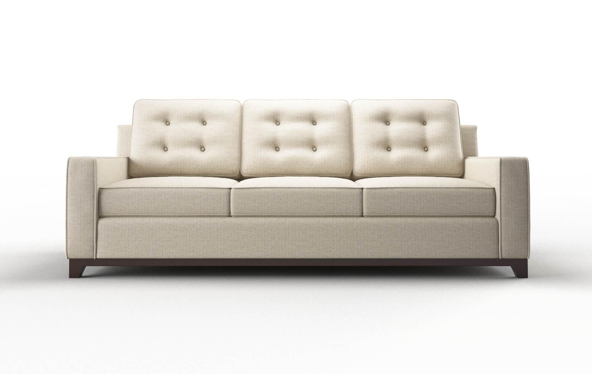 Alexandria Parker Linen Sofa espresso legs 1