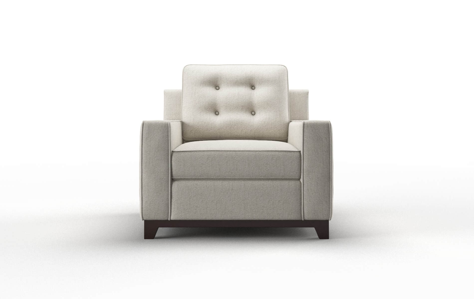 Alexandria Sasha Linen chair espresso legs