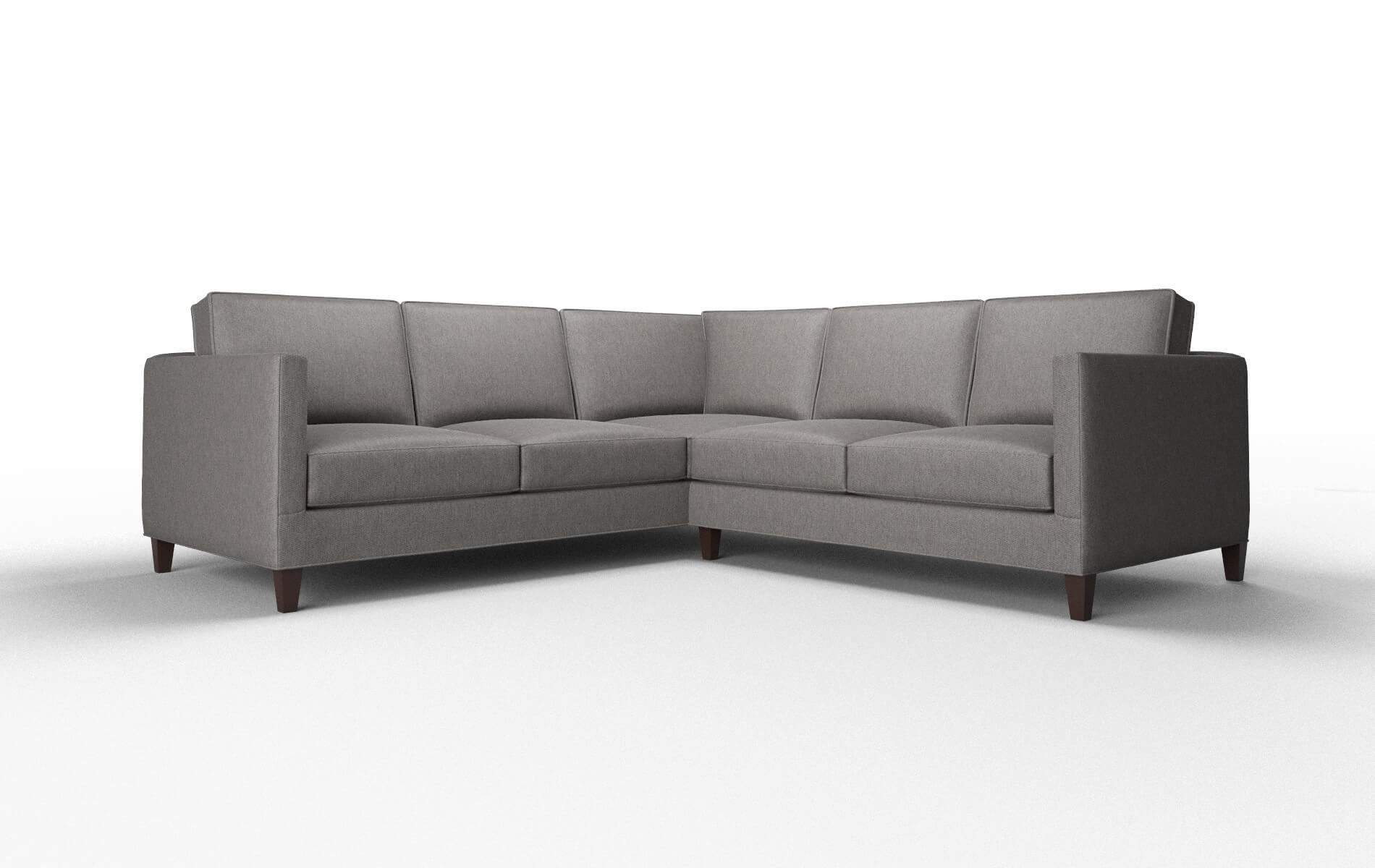 Alps Cosmo Charcoal Sectional espresso legs 1