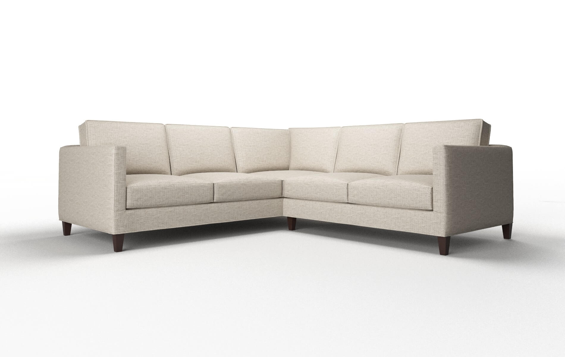 Alps Parker Wheat Sectional espresso legs 1