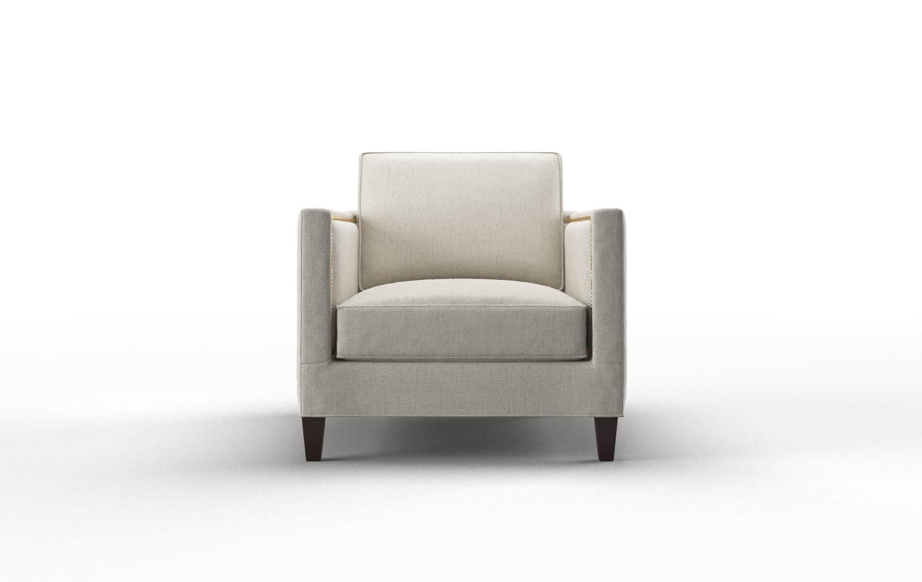 Alps Sasha Linen chair espresso legs