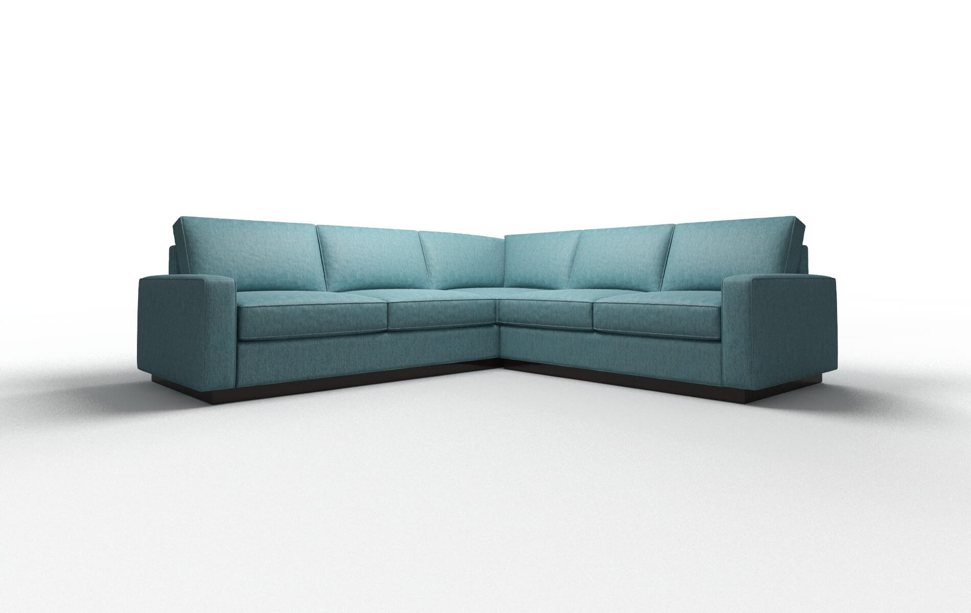 Alton Cosmo Turquoise Sectional espresso legs 1