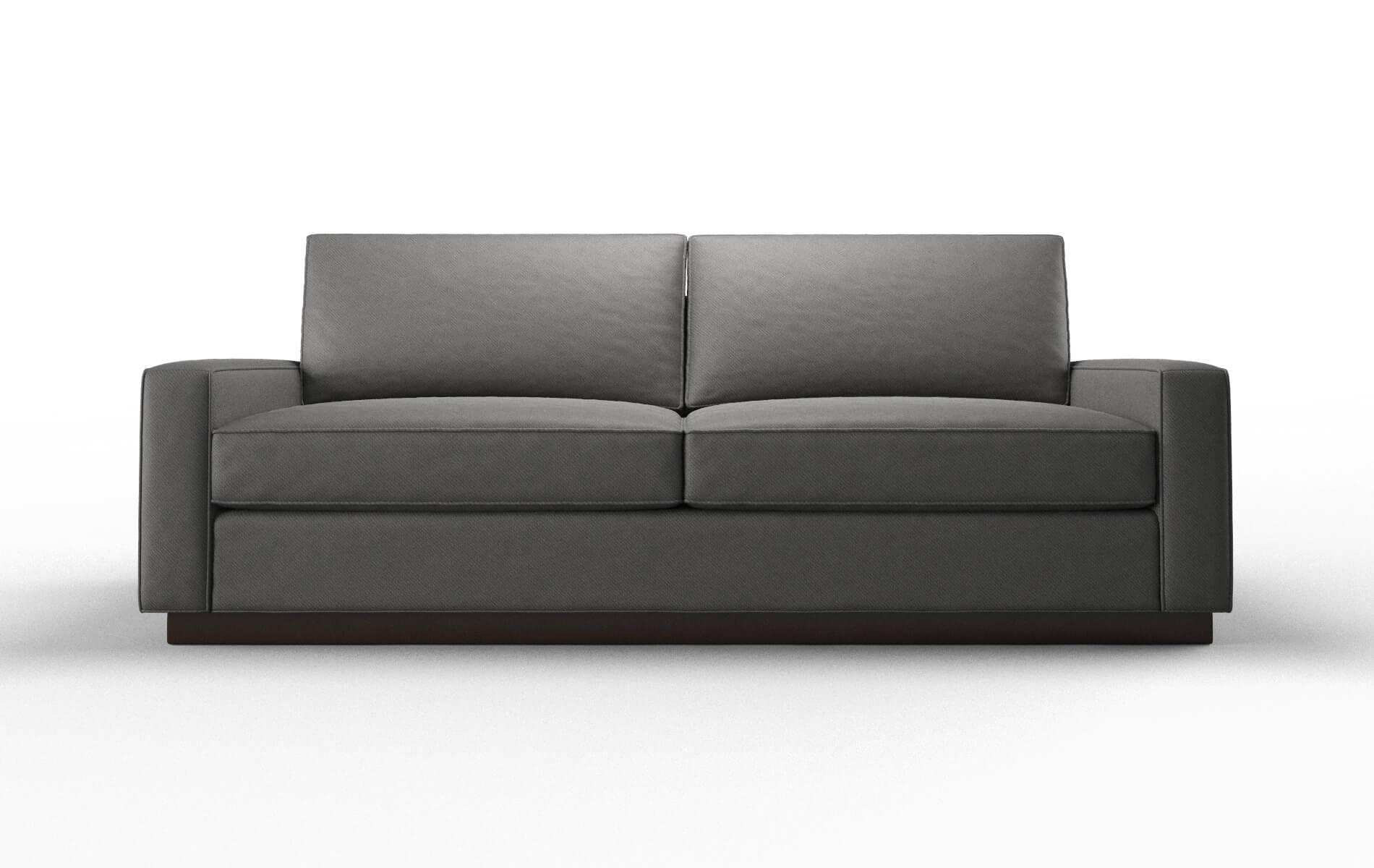 Alton Oakley Charcoal Sofa espresso legs 1