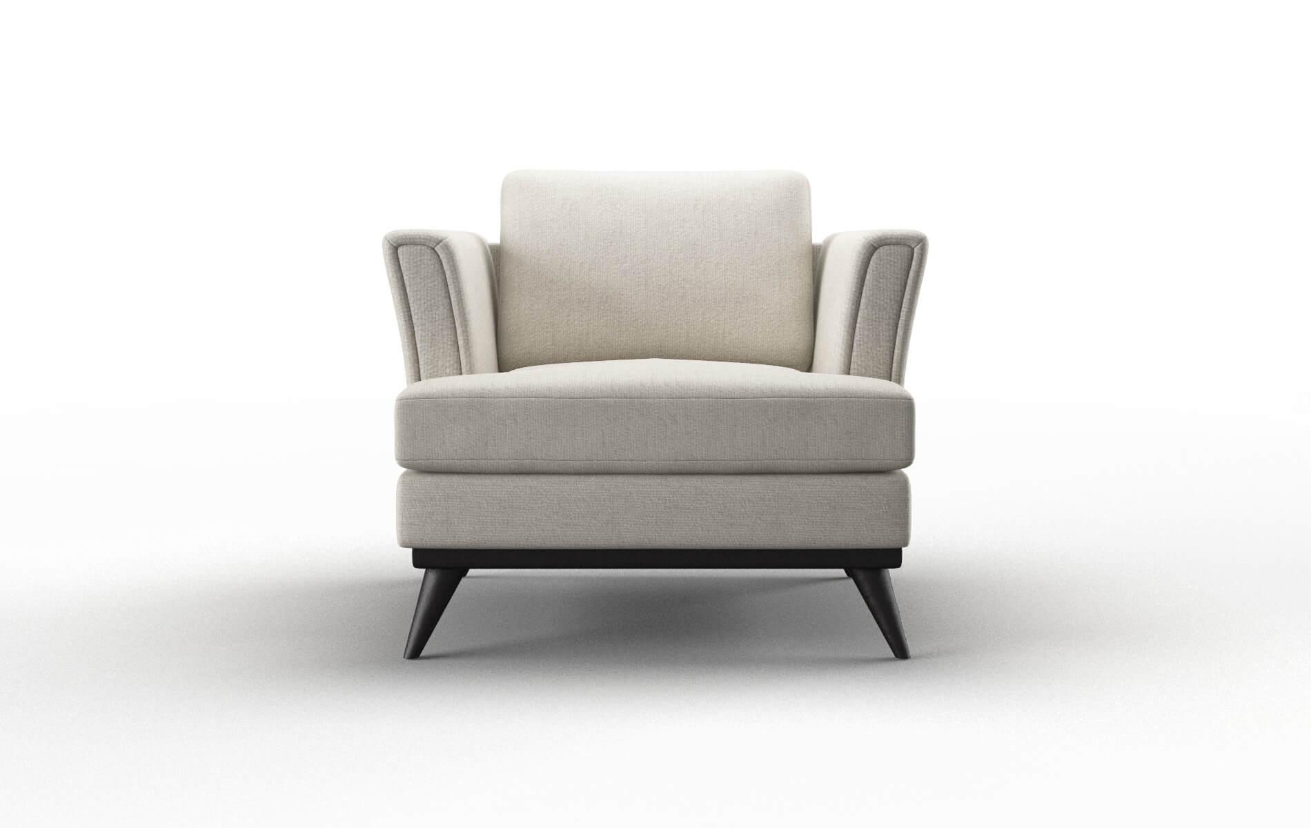 Antalya Sasha Linen chair espresso legs
