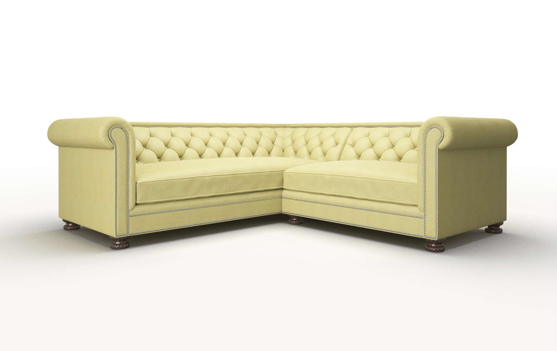 Athens Bella Apple Sectional espresso legs 1