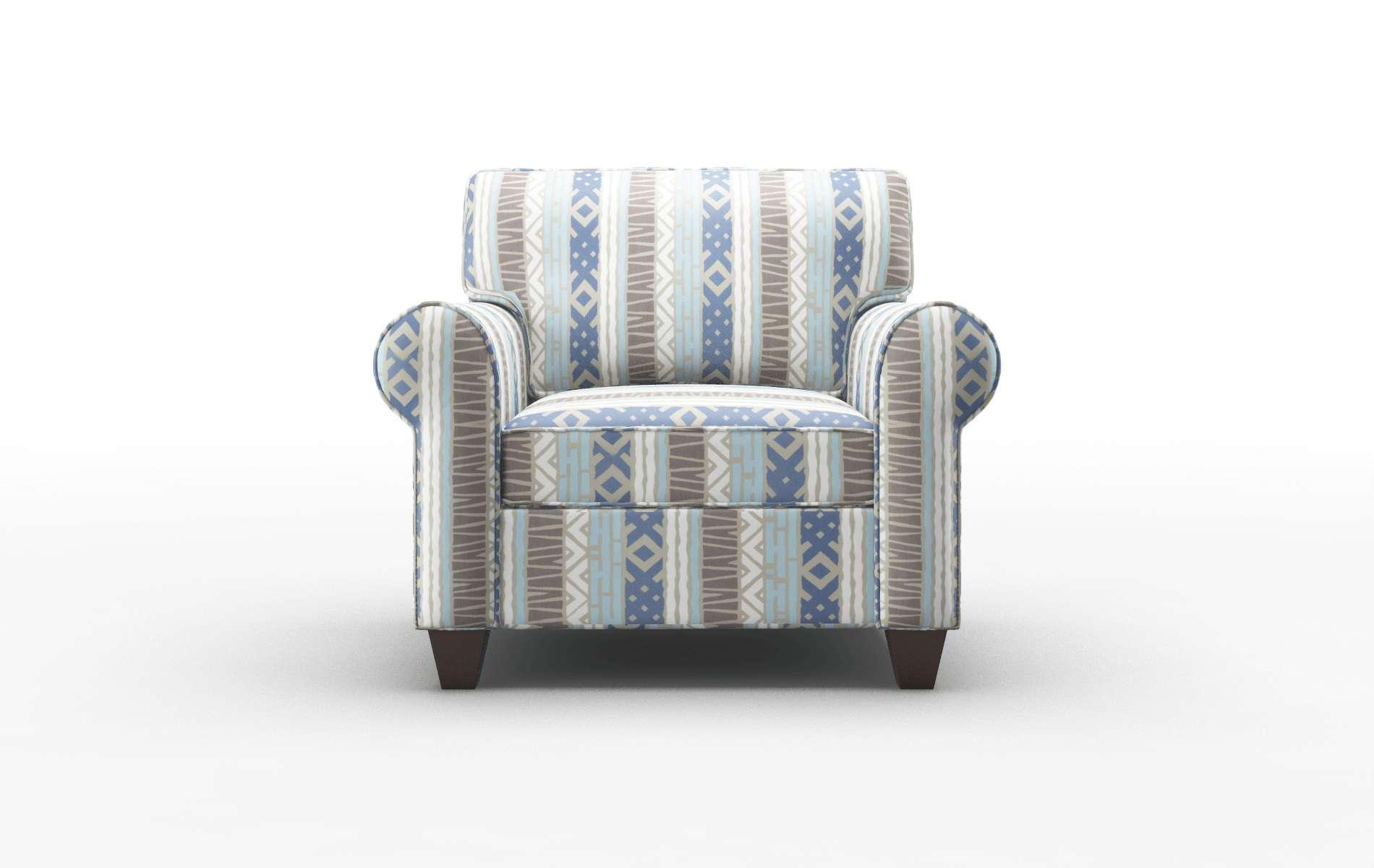 Augusta Bodhi Indigo Chair espresso legs 1