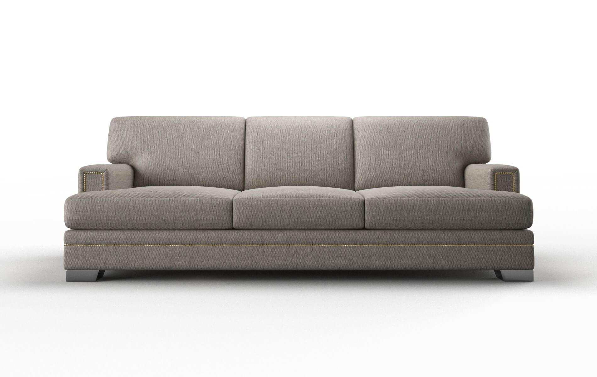 Barcelona Cosmo Taupe Sofa metal legs 1