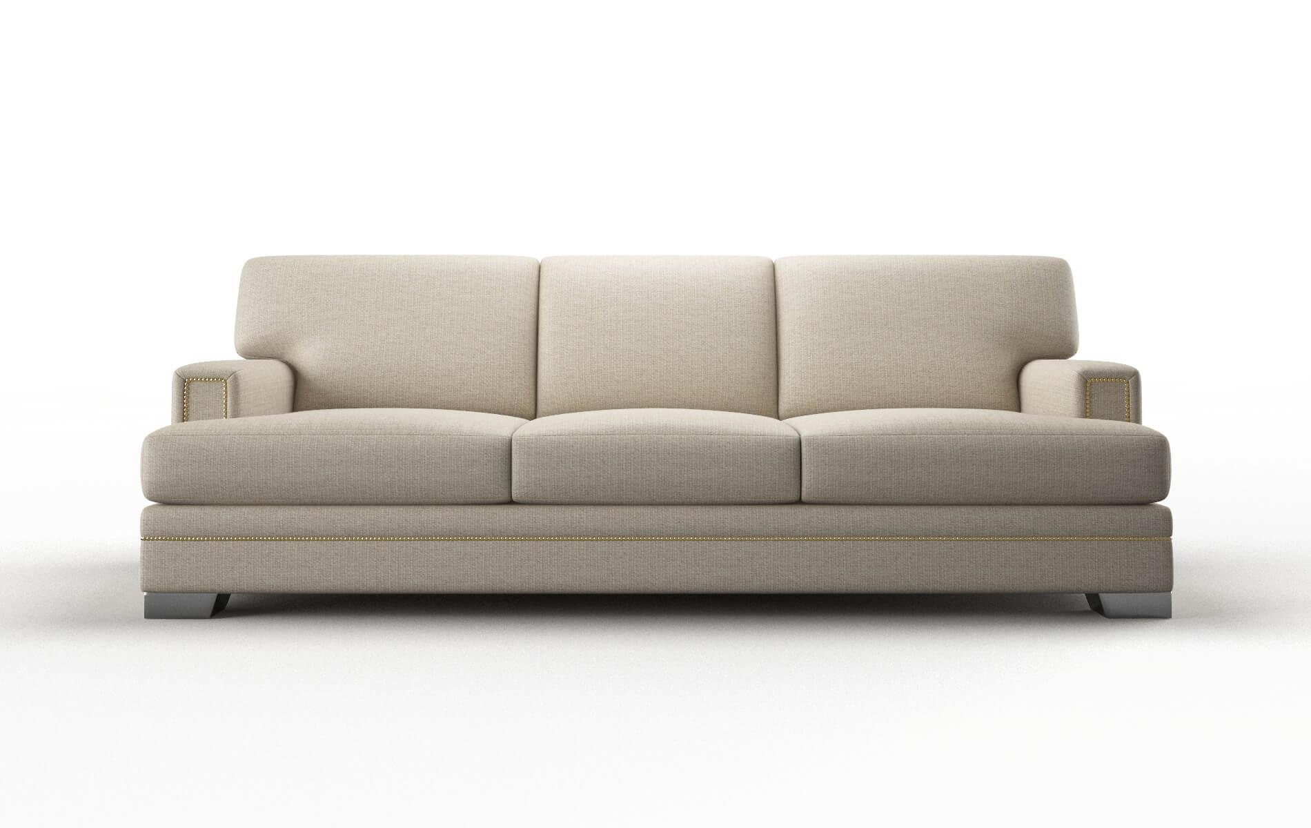 Barcelona Parker Linen Sofa metal legs 1