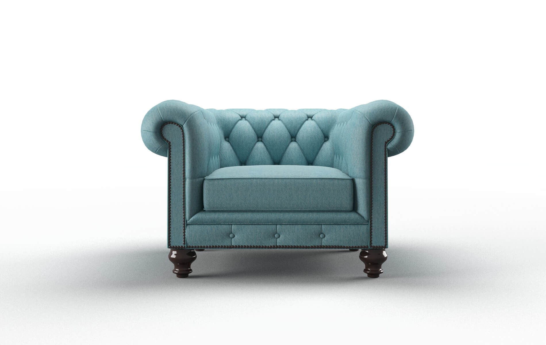Bordeaux Cosmo Turquoise Chair espresso legs 1