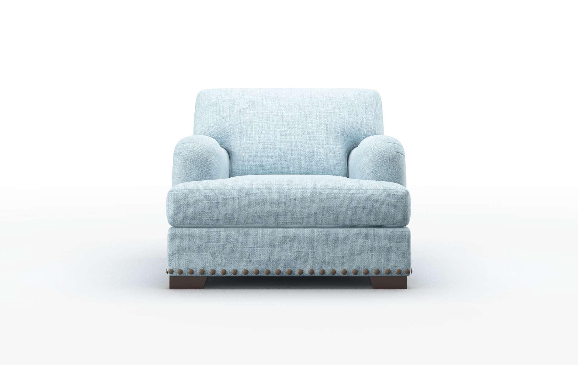 Brighton Atlas Turquoise chair espresso legs