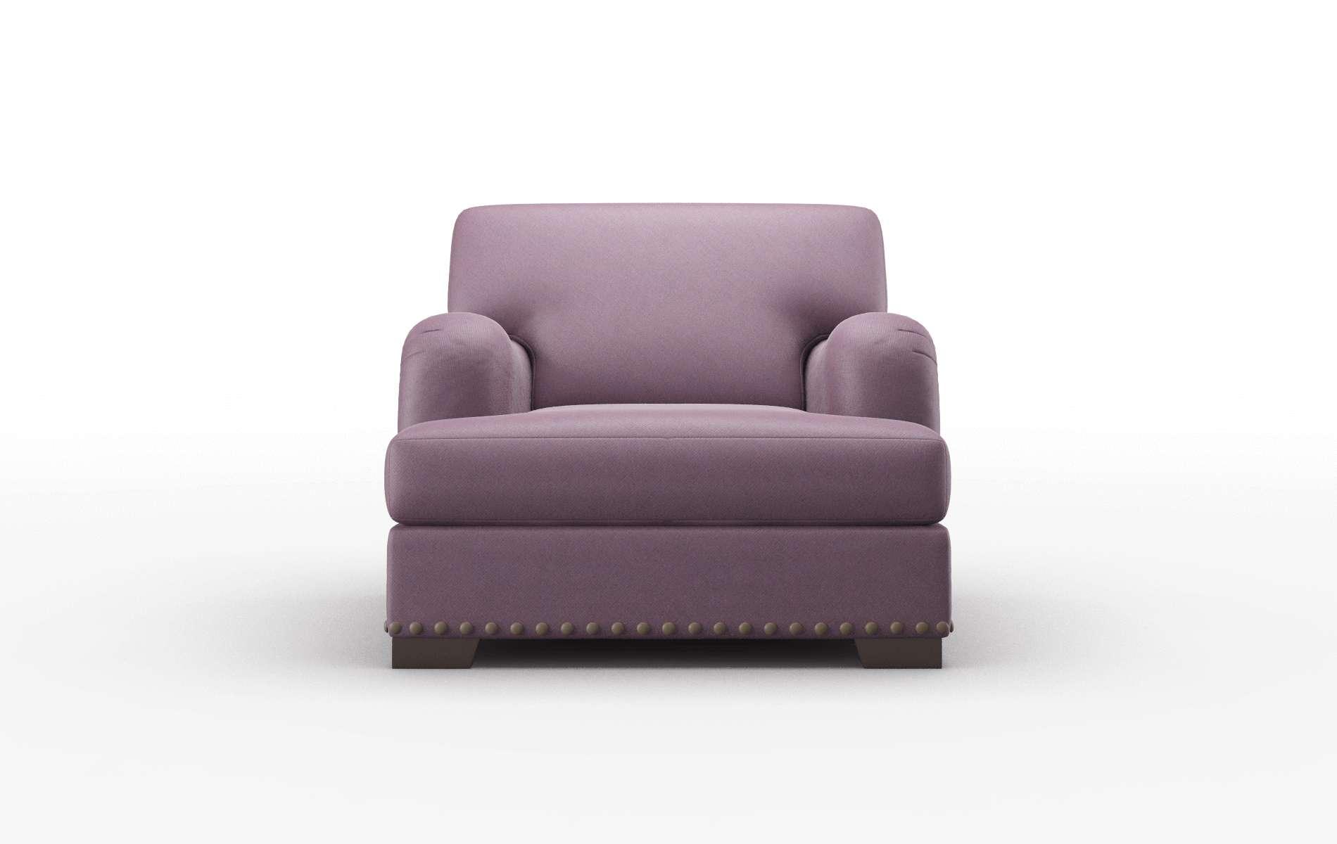 Brighton Bella Aubergine Chair espresso legs 1