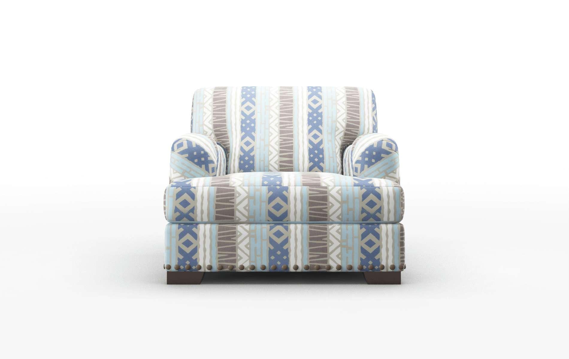 Brighton Bodhi Indigo Chair espresso legs 1