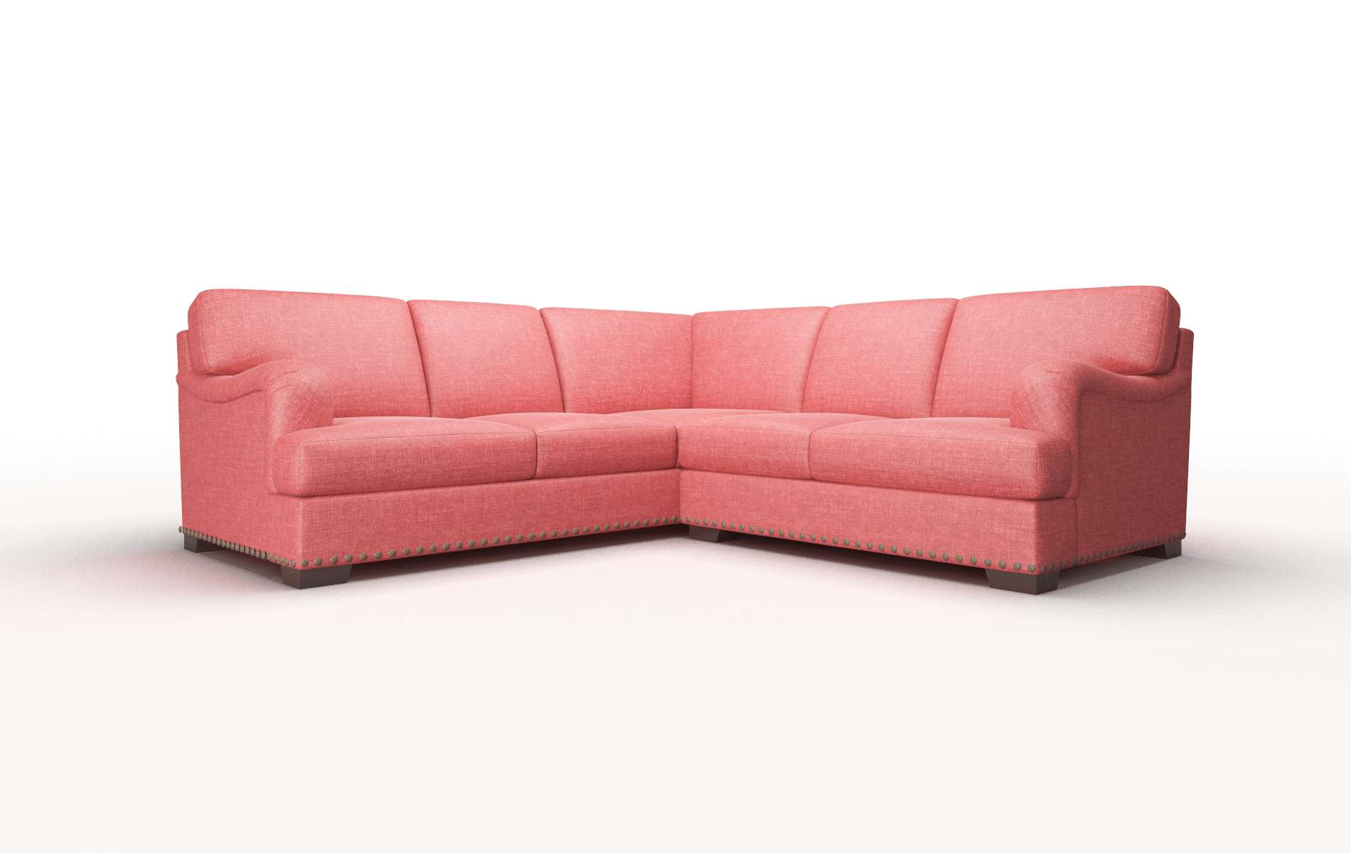 Brighton Keylargo Ruby Sectional espresso legs