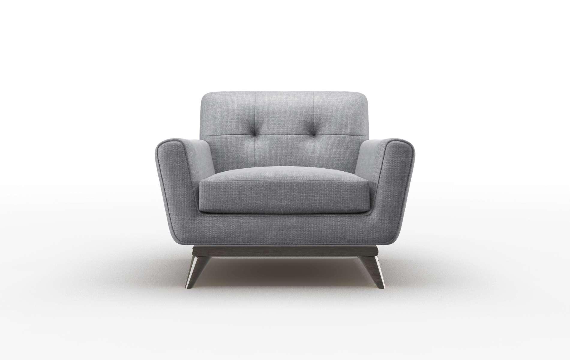 Brussels Keylargo Graphite chair espresso legs