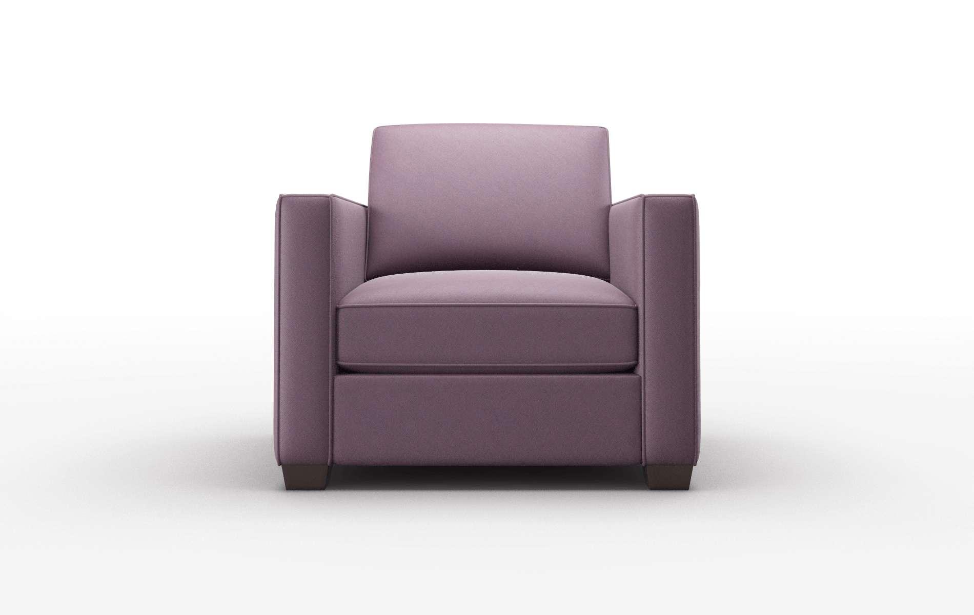 Calgary Bella Aubergine Chair espresso legs 1