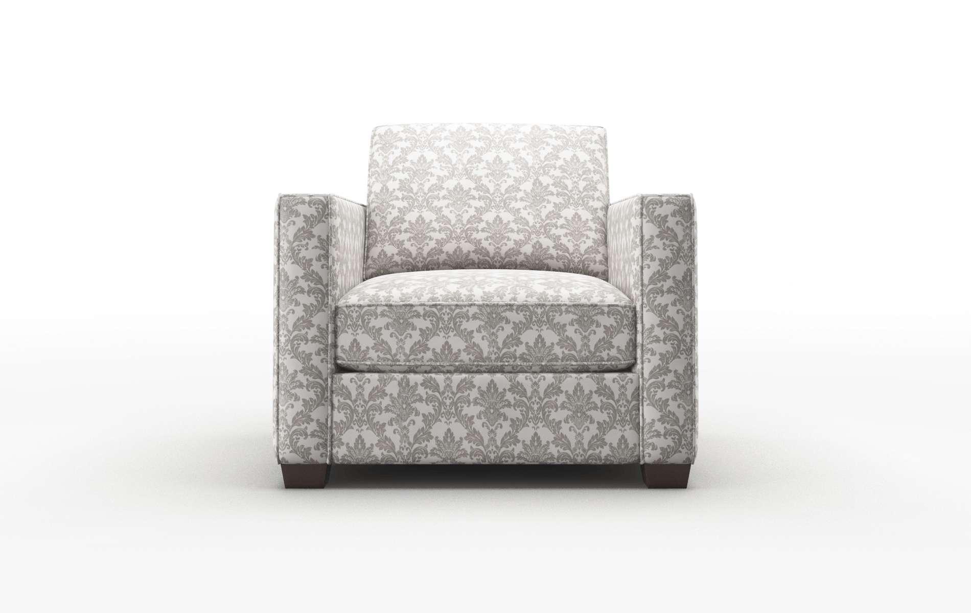 Calgary Bergamo Dove Chair espresso legs 1