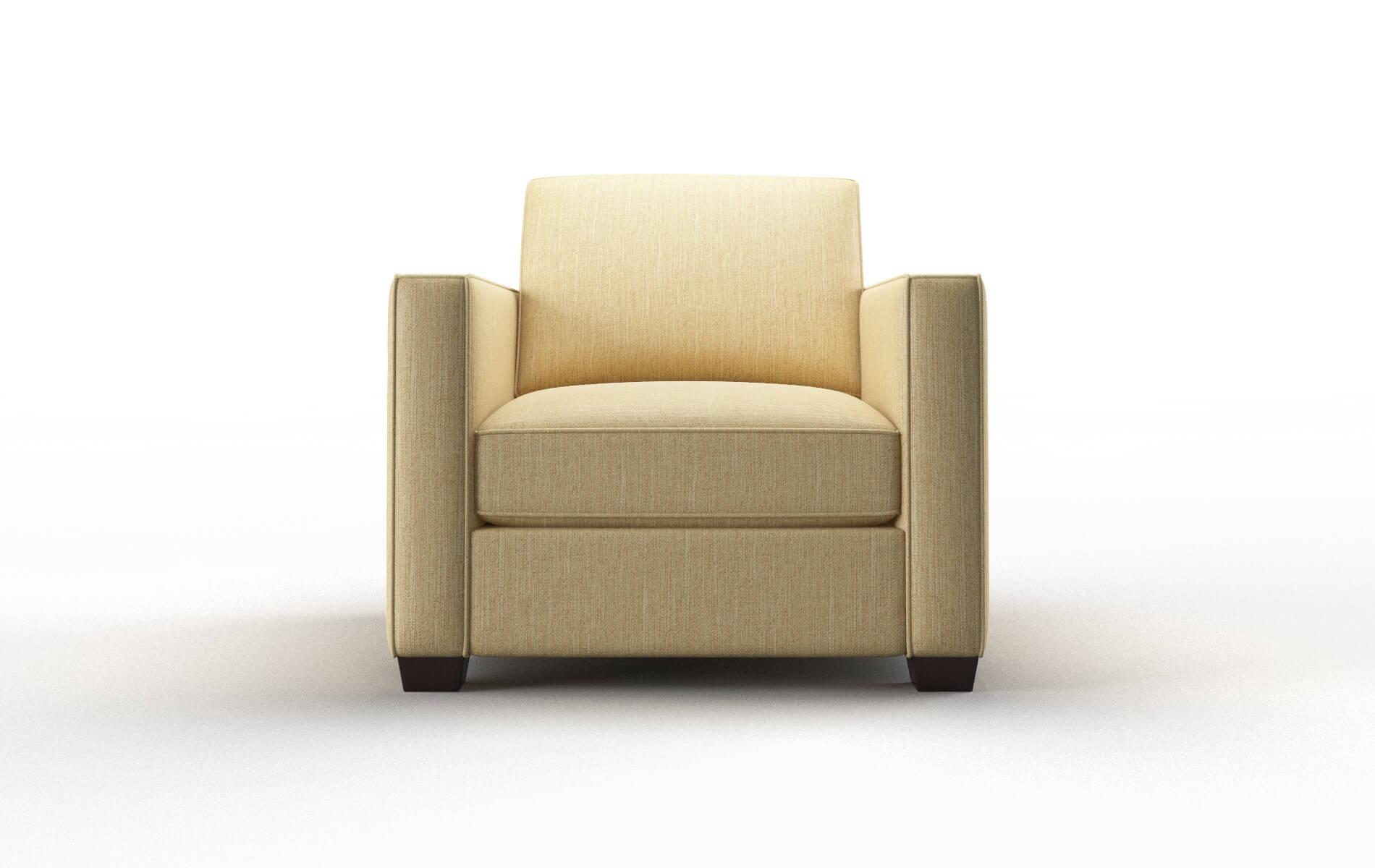 Calgary Malibu Maize Chair espresso legs 1