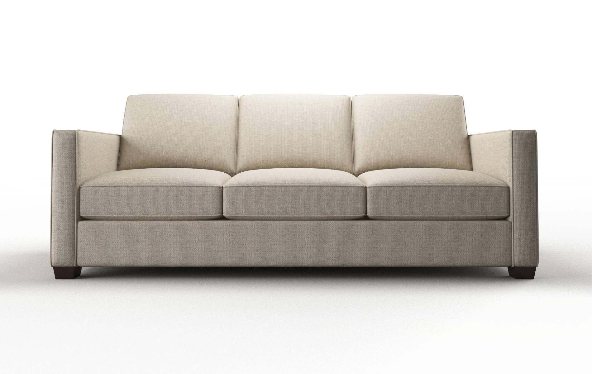 Calgary Parker Linen Sofa espresso legs 1