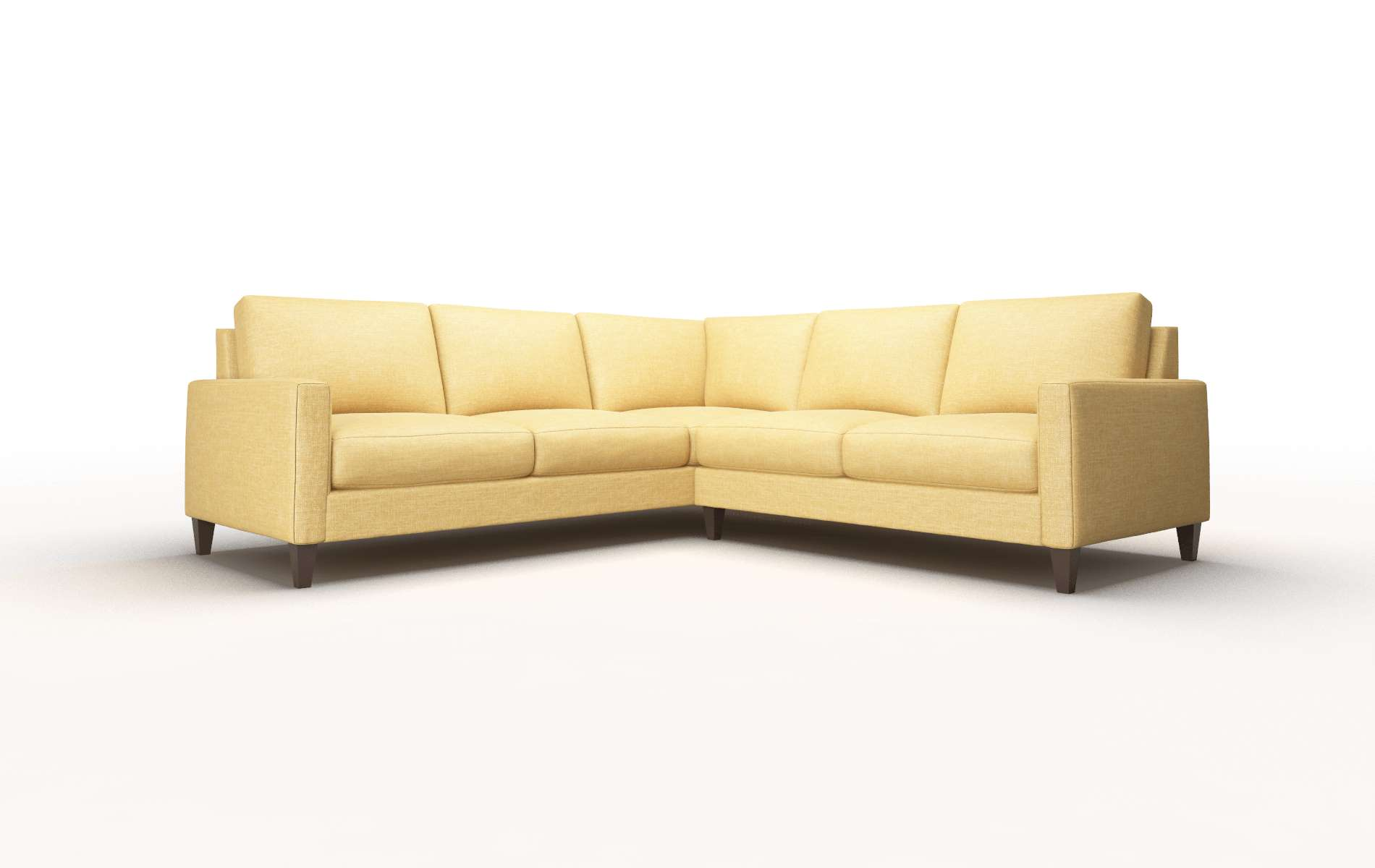 Cannes Keylargo Honey Sectional espresso legs 1
