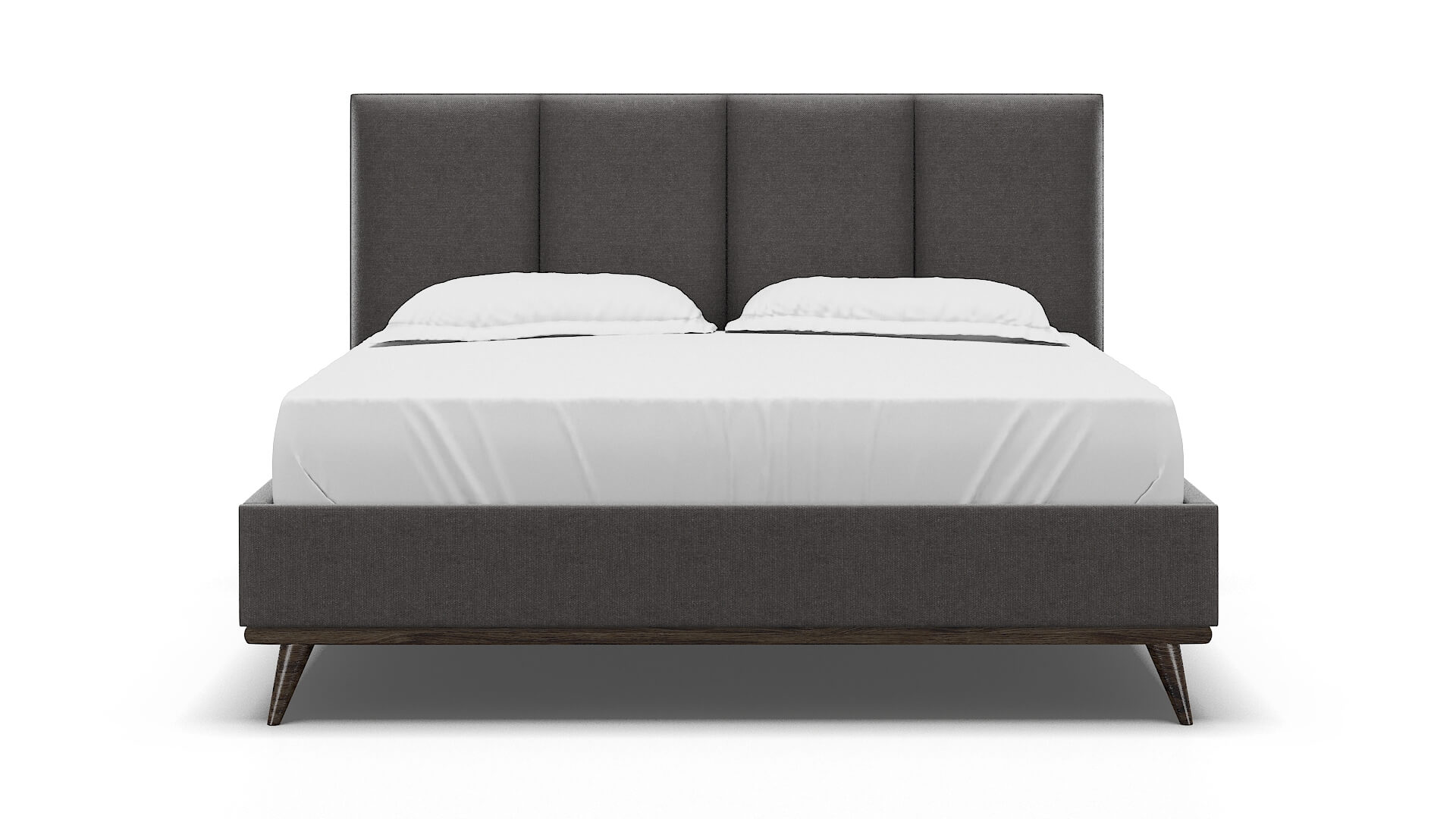 Celine Sasha Grey Bed King espresso legs 1