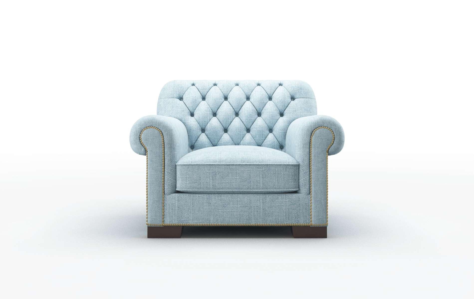 Chester Atlas Turquoise chair espresso legs
