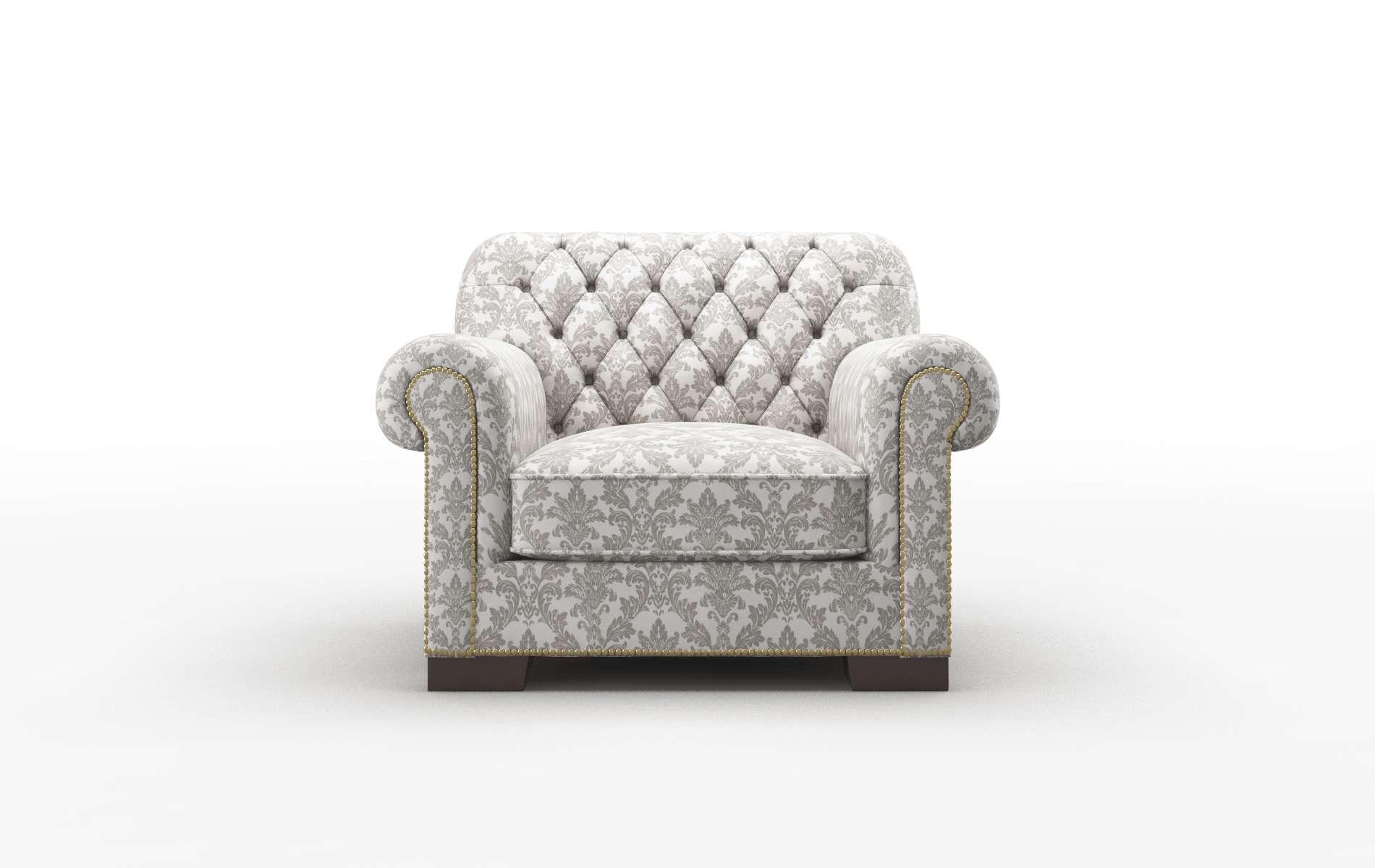 Chester Bergamo Dove chair espresso legs