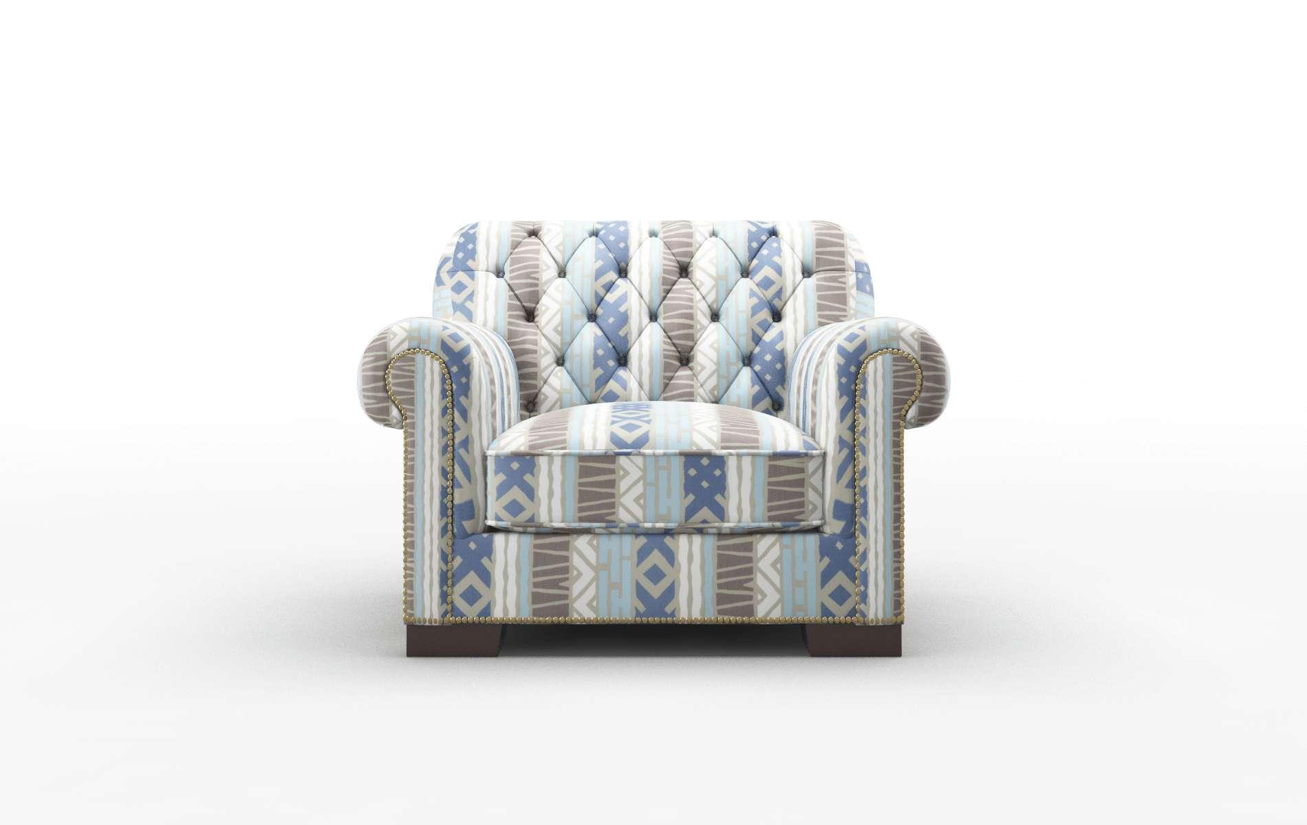 Chester Bodhi Indigo Chair espresso legs 1