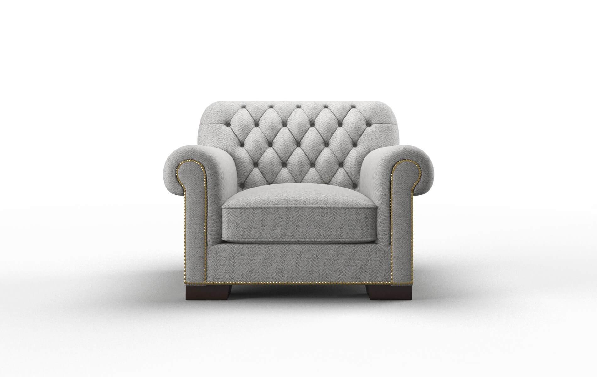 Chester Catalina Silver chair espresso legs