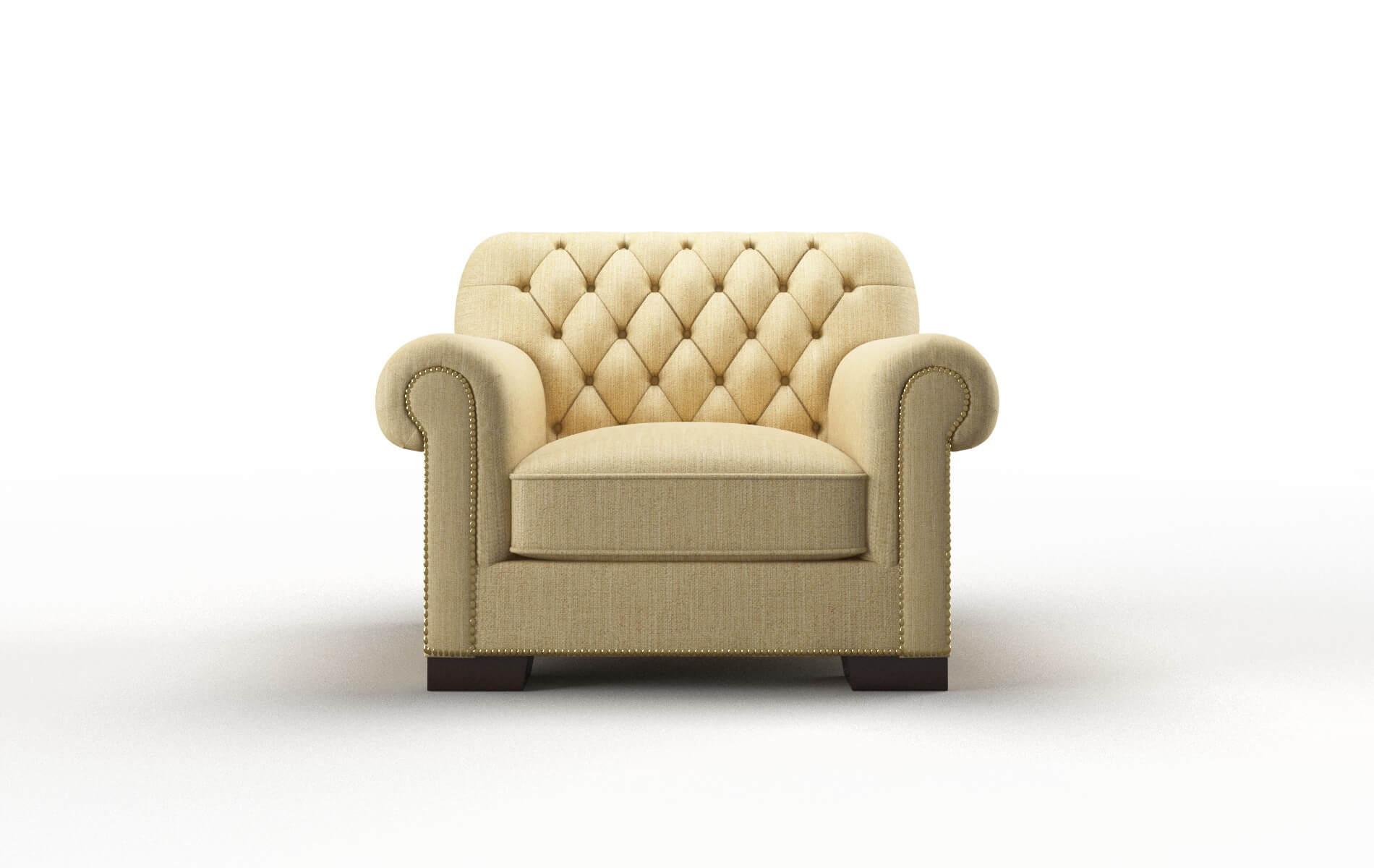 Chester Malibu Maize Chair espresso legs 1