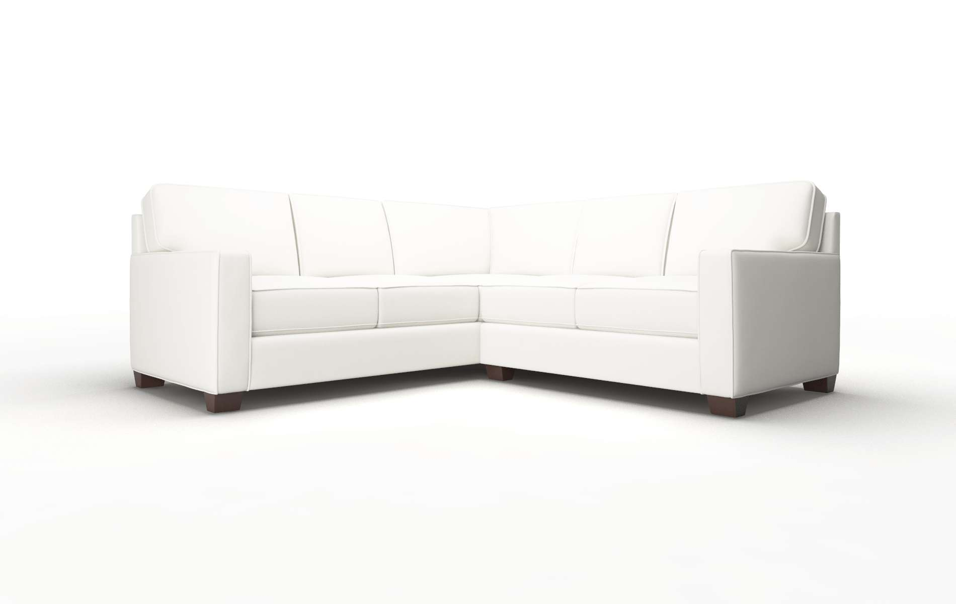 Chicago Keylargo Oatmeal Sectional espresso legs 1