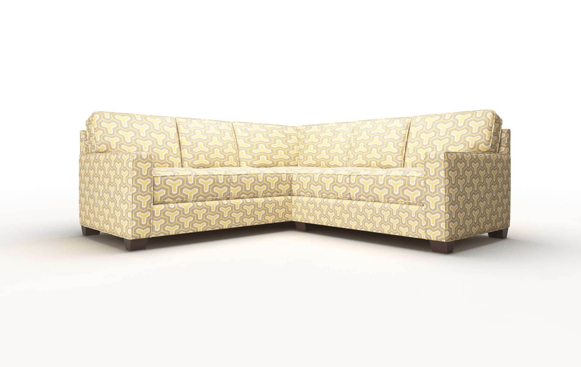Chicago Merci Dijon Sectional espresso legs 1