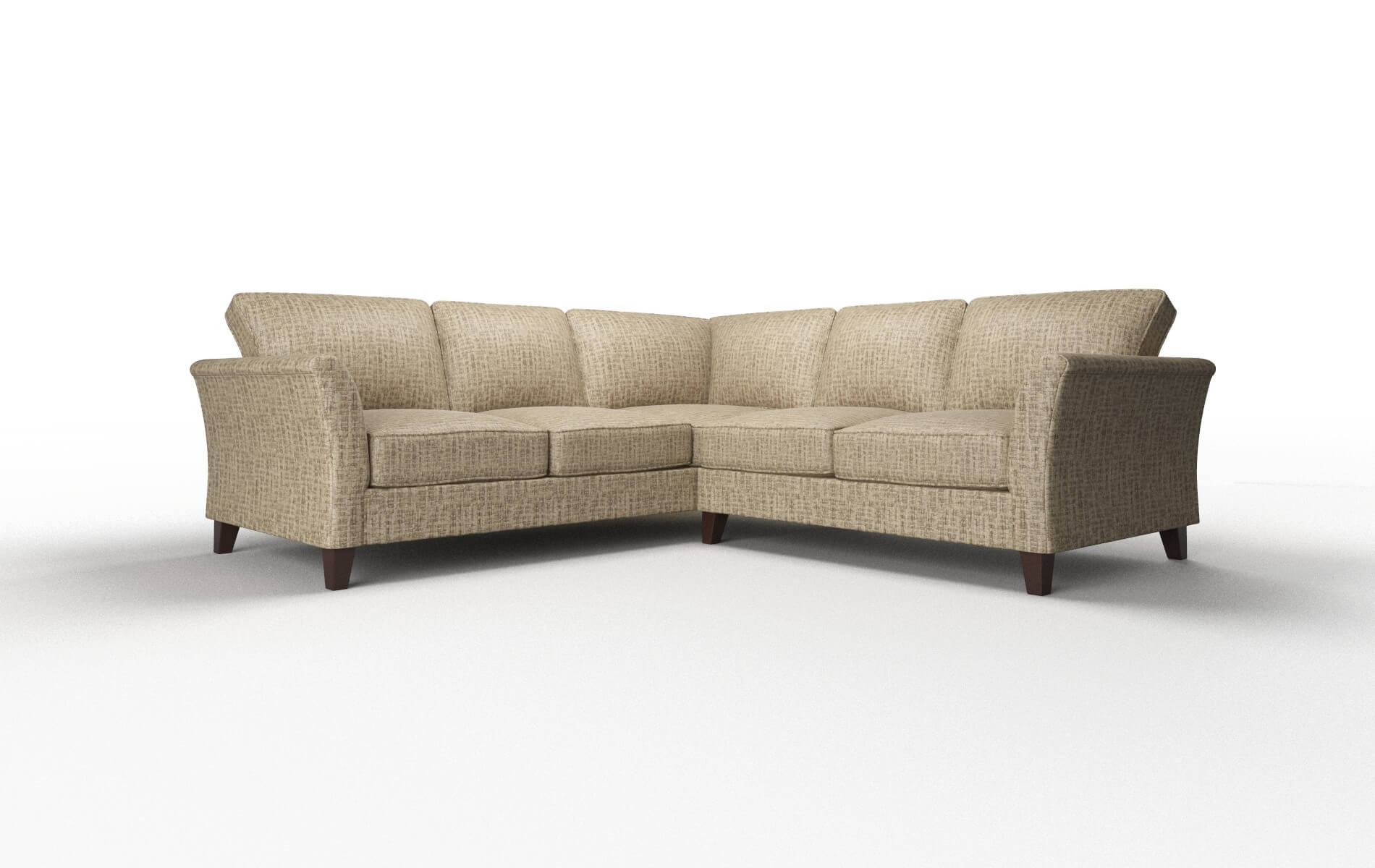 Cologne Marcy Camel Sectional espresso legs 1