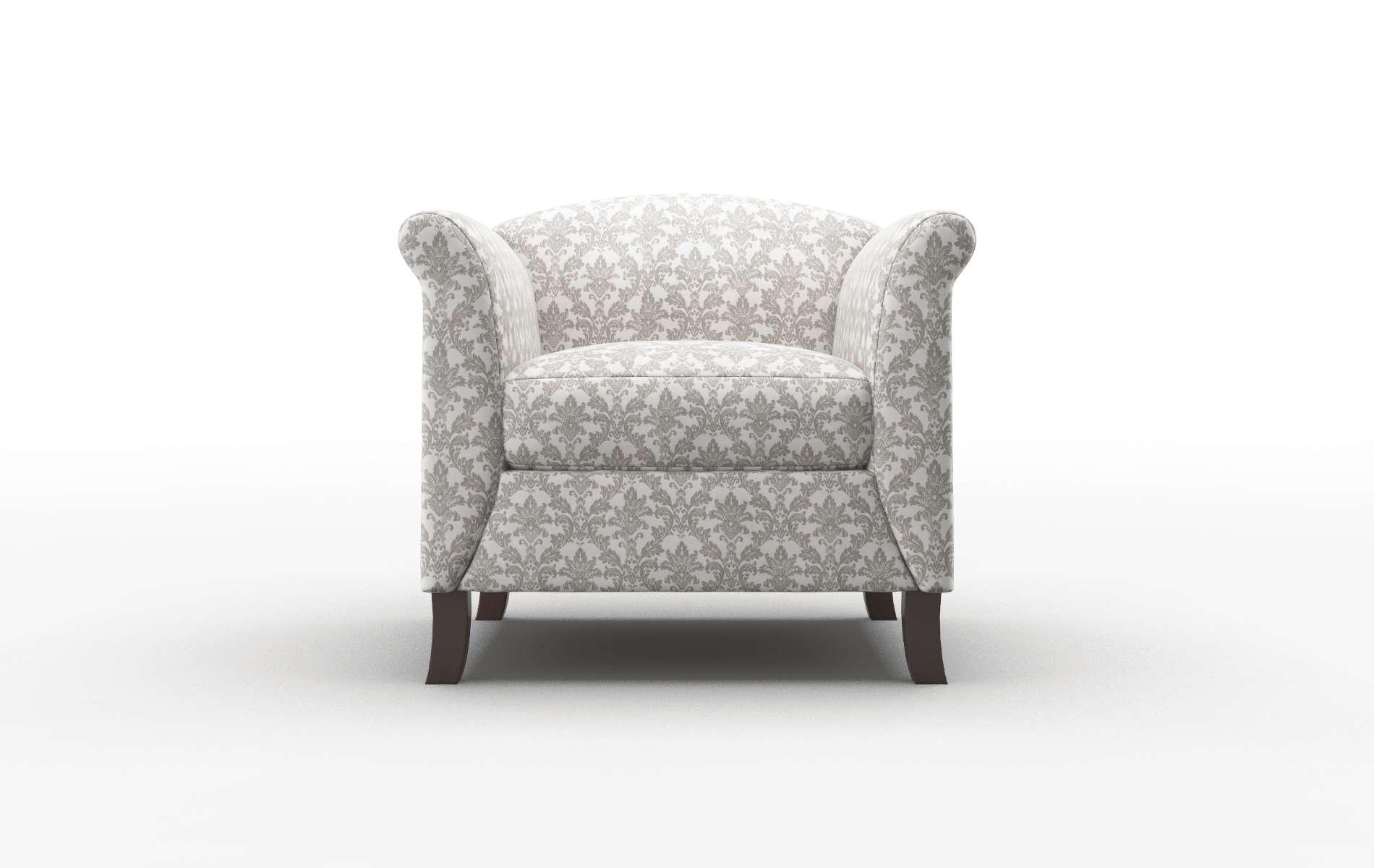 Crete Bergamo Dove Chair espresso legs 1