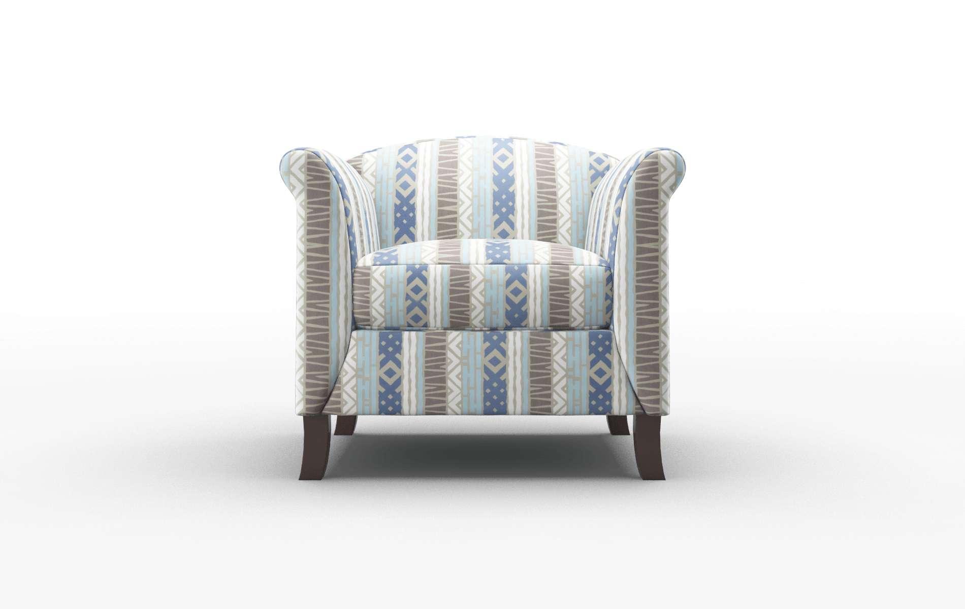 Crete Bodhi Indigo Chair espresso legs 1