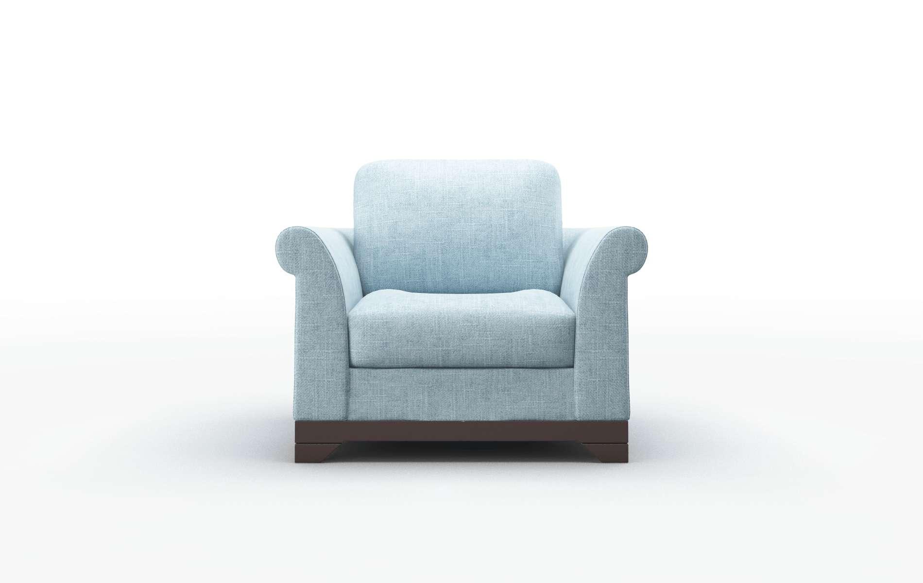 Denver Atlas Turquoise chair espresso legs